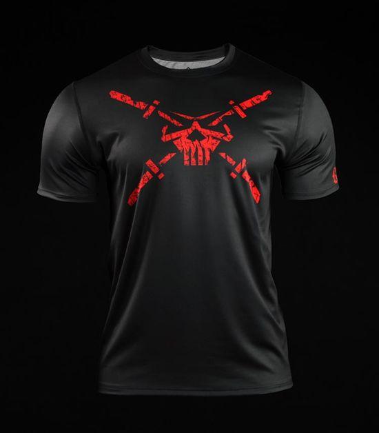 Training t-shirt Crossborn Skull Dirt Black