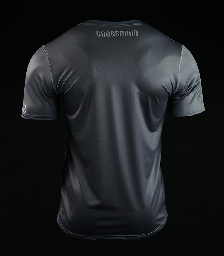 Koszulka treningowa (T-shirt) Crossborn Minimal Szara